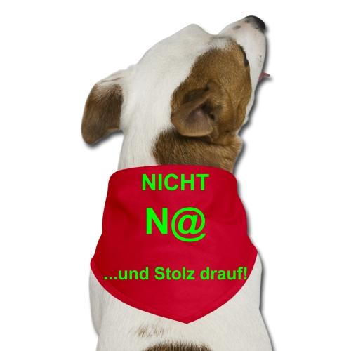 """Hundehalstuch """"Nicht N@"""" (Nett) - Hunde-Bandana - Halstuch für Hunde, dreieckig, 97% Polyester und 3% Baumwolle, Marke: SOL's"""