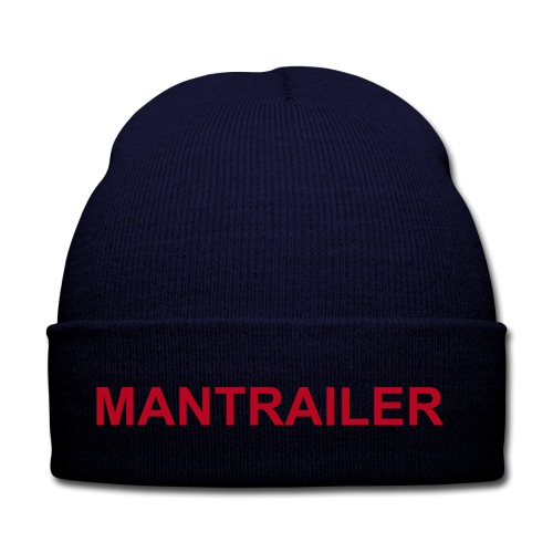 """Mantrailer - Die Wintermütze... (Blau, mit roter Schrift) - Wintermütze, 100% Acryl, Marke: Result Caps - Wintermütze für Mantrailer - hier in Navy - Die kuschelig warme Wintermütze aus 100% Acryl. Einheitsgröße, passt sich mit der Zeit gut der Kopfgröße des Trägers an. Hier mit Aufdruck: """"Mantrailer in rot"""""""